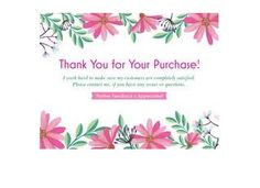 50 Large 4x5 Professional Thank You Cards Ebay Poshmark Etsy Postcard Size Floral White Pink Flowers by LesTroisJ on Etsy Pink Flower Photos, Floral Flowers, Thank You Stickers, Thank You Cards, Purchase Card, Shipping Supplies, All White, Pink Stripes, Postcard Size