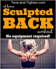 The best at-home back exercises with absolutely zero equipment required! From Tone-and-Tighten.com #workout #fitness