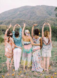 Hippy Bridesmaids! | Why Not To Have Bridesmaids | Bridal Musings Wedding Blog