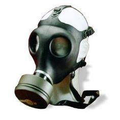 Gas mask http://www.amazon.com/gp/product/B0002XJ2OU/ref=as_li_ss_tl?ie=UTF8&tag=decmir-20&linkCode=as2&camp=1789&creative=390957&creativeASIN=B0002XJ2OU