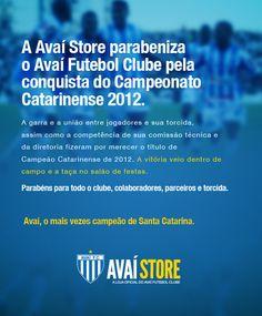 News parabenizando Avaí - 2012