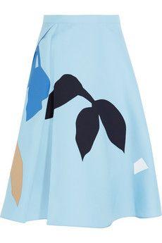 Jonathan Saunders Sally appliquéd wool-twill skirt | NET-A-PORTER