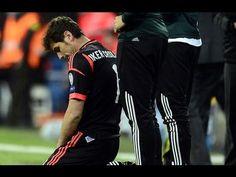 Sufrimiento de Iker Casillas durante el Real Madrid vs Borussia Dortmund (2-0) 2013