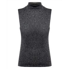 Jaeger Jaeger Ribbed Turtleneck Top (2,885 PHP) ❤ liked on Polyvore featuring tops, sweaters, sleeveless tops, turtle neck sweater, ribbed sleeveless turtleneck, ribbed turtleneck and black ribbed sweater