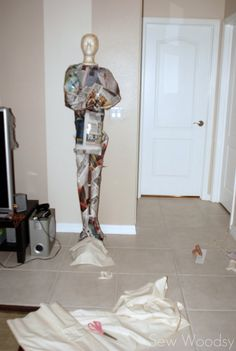 {Tutorial} Create Your Own Life-Size Mummy | Sew Woodsy