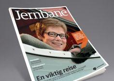 Jernbanemagasinet by Jernbaneverket. Pinned from www. Magazine Design, Phone, Travel, Telephone, Mobile Phones
