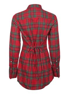 TARTAN FLANNEL - LONG SHIRT.     Maybe for engagement photos or to wear over the dress for some pics. Represent RU.