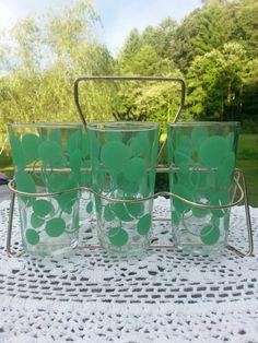 Vintage Glassware set with carrier
