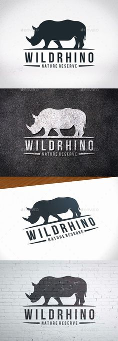 Rhinoceros Logo Template — Photoshop PSD #safari #wild • Available here ➝ https://graphicriver.net/item/rhinoceros-logo-template/20614084?ref=rabosch