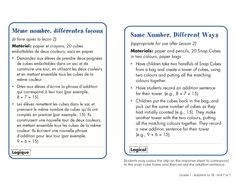 A compilation of printable French math games, addition and subtraction to for grade 1 from Pearson Math . Instructions are in both French and English. Laminate game boards and instructions to re-use. 1st Grade Math, Grade 1, French Immersion, French Class, Addition And Subtraction, Math Worksheets, Math Games, Good Company, Game Boards