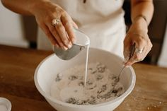 Baking Photoshoot –pouring the cream to make scones