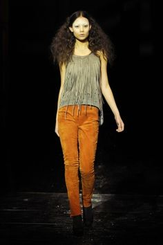 Breate Godager, Hot Friture & Yasamin Zafar: suede fringe top is so awesome, i can picture it perfectly with a black leather skirt or shorts