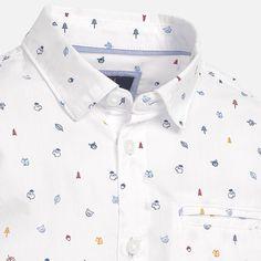 Camisa fantasía manga larga Blanco - Mayoral