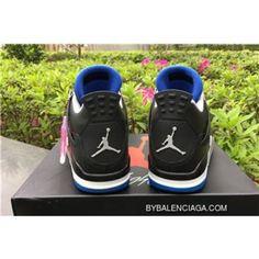 sports shoes 0a798 9fd41 Women Men Air Jordan 4 Retro Motorsport Away Black Game Royal-Matte Silver  308497