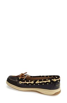 Love these gold polka dot sperrys