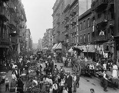size: Photo: Mulberry Street in New York City's Little Italy Ca, 1900 : Fine Art New York Street, New York City, Little Italy Nyc, Mulberry Street, American Story, University Of Arizona, City Photography, Digital Photography, Historical Photos