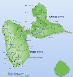 Carte de Guadeloupe