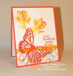 Lotus Beauty - A FREE 3-step stamp set from Stampin' Up!  I have more details and photos on my blog here: http://astampabove.typepad.com/my-blog/2015/01/lotus-blossom-card-buffet.html