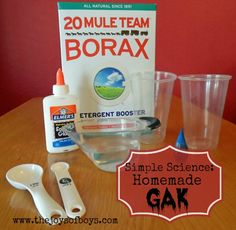 This Gak recipe is a simple science project that shows the reactions of polymers in different solutions.
