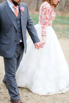 cardi with your wedding dress. so so cute! http://www.weddingchicks.com/2013/08/28/vintage-backyard-wedding-2/