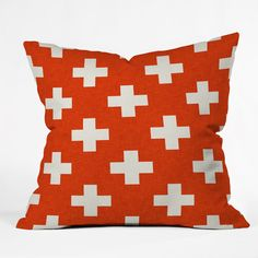 Holli Zollinger Vermillion Plus Throw Pillow by DENY Designs at Gilt Red Throw Pillows, Modern Throw Pillows, Outdoor Throw Pillows, Throw Pillow Covers, Accent Pillows, Floor Pillows, Decorative Throw Pillows, Duvet Covers, Cushion Pads