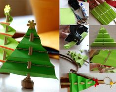 Folded Paper Tree::Could be a Sweet little Christmas Gift > with a Pencil/Pen in the Center!