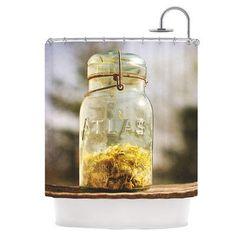 KESS InHouse Jar of Sunshine Shower Curtain