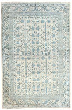 Soft-Tone Rugs Gallery: Soft-Tone Khotan Design Rug, Hand-knotted in Pakistan; size: 8 feet 6 inch(es) x 11 feet 11 inch(es)