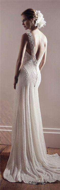 Elegant wedding dress, chiffon wedding dress, Beach wedding dress