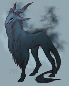 King of the Forest(In the wilderness of the Dying Isles, turning once good and pure mythical creatures into nothing more than beasts) Dark Creatures, Magical Creatures, Fantasy Creatures, Creature Drawings, Animal Drawings, Cool Drawings, Creature Feature, Creature Design, Fantasy Beasts