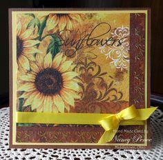 Sunflower Napkin Card  3-24-2015