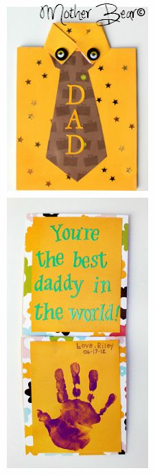 Mother Bear: Father's Day tie card. bearyhelpful.blogspot.com/