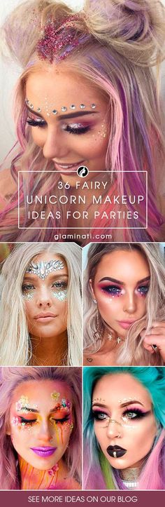 Unicorn makeup can't be described without the word 'magical'. And so it is, as it is all about fantasy, iridescence, glitter, rainbows and shimmer.