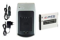 Ladegerät + Akku Li-70b für Olympus VG-110, VG-120, VG-130, VG-140, VG-150, VG-160 u.a. - http://kameras-kaufen.de/mtb-more-energy/1-ladegeraet-1-akku-2-akkus-li-70b-ladegeraet-fuer-d