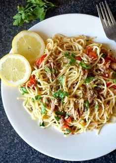 Quick Tuna Spaghetti, a fabulous dish that is ready in about 30 minutes. It might be simple to make, but it's jam-packed with fantastic flavours. Low in calories, highly nutritious and delicious, this is a great family-favourite pasta recipe