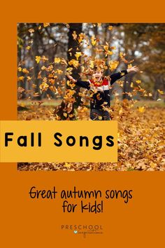 Fun Fall Music for Kids: Enjoy these fall songs for kids. There's a ton of learning to be done through song, and this post tells you exactly what kids are learning in each song! Kindergarten Songs, Preschool Songs, Music Activities, Preschool Science, Kids Songs, Preschool Learning, Teaching, Fall Activities For Toddlers, Fall Arts And Crafts
