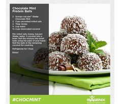 Chocolate mint protein balls!