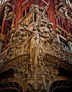 Palau de la Musica Catalana (NO HDR) by Jose Luis Mieza Photography, via Flickr. Barcelona, Spain