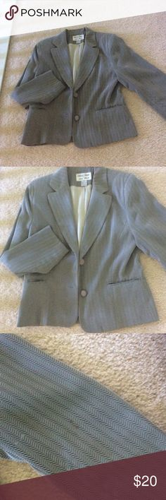 Jacket size 8 Had a little stain on the right arm . Very easy to clean . Bundle up and save focus-2000 by charles gluech  Jackets & Coats Blazers