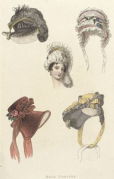 Fashion Plate (Head Dresses)  England, 1809, LACMA Collections Online