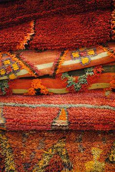 Orange Theme from Afolki Berber Rugs. Photo taken at maison 2013