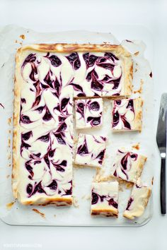 Raspberry Cheesecake bars. well, i don't know, but i LOVE white chocolate raspberry cheesecake, so these might be worth a try? ;)