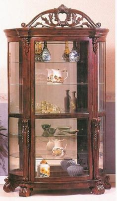 Antiques Contemplative Reproduction Antique Style Mahogany Bookcase