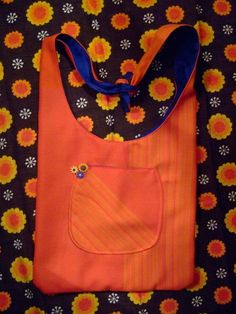 Hippy slouch bag using vintage fabrics.