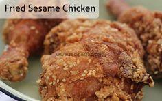 Fried Sesame Chicken Recipe Eid Recipes, Savoury Recipes, Indian Food Recipes, Great Recipes, Cooking Recipes, Fried Sesame Chicken Recipe, Fried Chicken, Chicken Recipes
