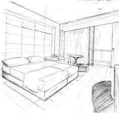 Perspectiva Cama Desenhos De Arquitetura Desenhos De Perspectiva Desenho Arquitetonico