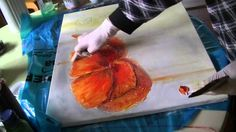 Mohnblüte malen lernen Teil2 Poppies acrylic painting demo part 2