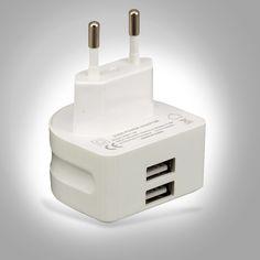 Super rápido 5 v 2.1a ue 2 cargador usb puerto micro usb adaptador de corriente cargador de pared enchufe de teléfono móvil inteligente para iphone samsung Tablet