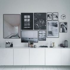 black and white wall gallery