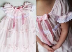 Pink Nightgown Girls sizes 6 through 10 via Etsy